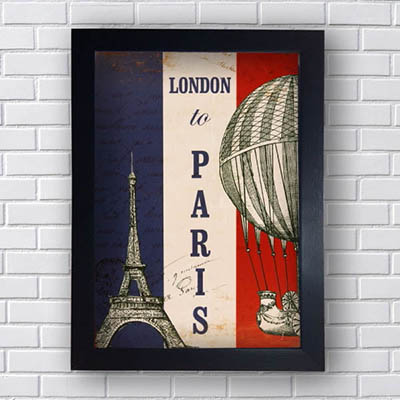 Quadro Decorativo London To Paris