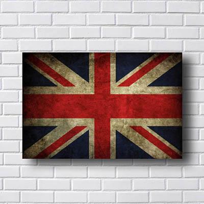 Quadro Decorativo Londres Bandeira
