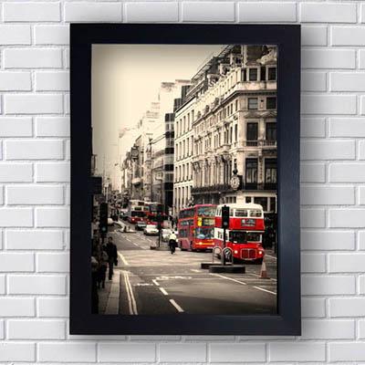 Quadro Decorativo Londres Onibus