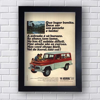 Quadro Decorativo Propagandas Antigas