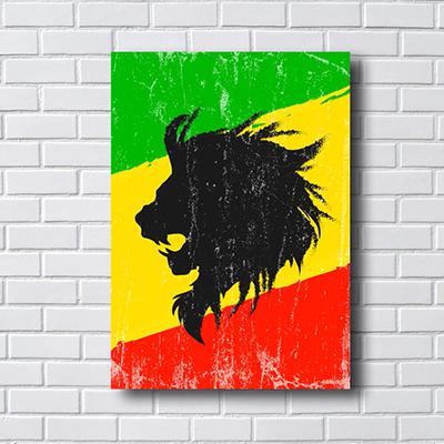 Quadro Decorativo Rasta Lion